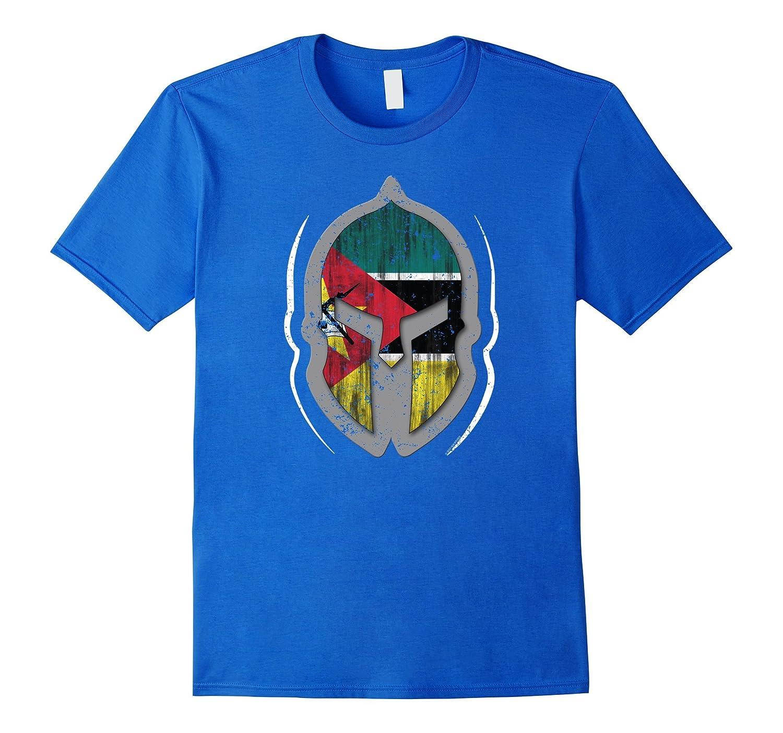 Mozambique Flag T Shirt Spartan Helmet Mozambigue T Shirt-CD