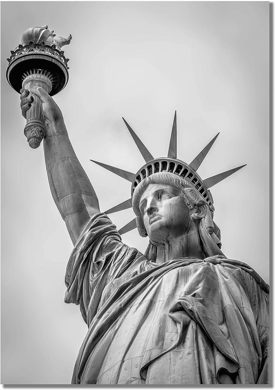 Panorama Cuadro Cartón Pluma Estatua de la Libertad 50 x 70 cm Impreso en Cartón Pluma Cuadros Decoración Salón Cuadros para Dormitorio Láminas Decorativas Cuadros Modernos