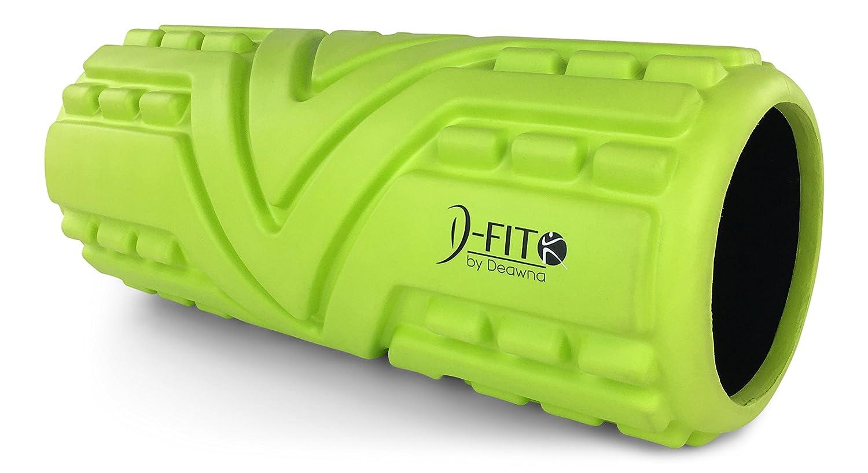 D-Fit by Deawna 高密度フォームローラー The Arrow 筋膜性疼痛や張りのある箇所を正確に狙う突起 空洞 滑りにくい表面 13×5.5インチ ハウツービデオ  ライムグリーン B01MYFCML3