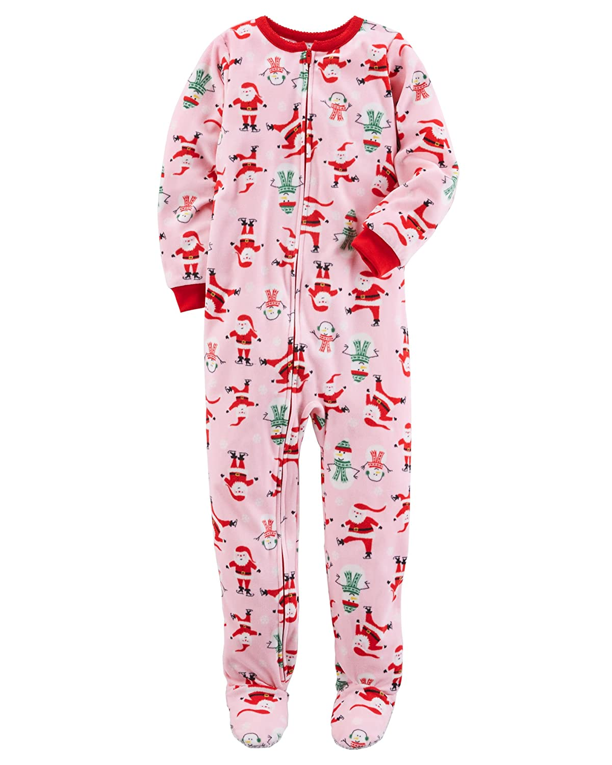 848859b66 Amazon.com  Carter s Baby Toddler Girl s 2 Pack Fleece Footed Pajama ...