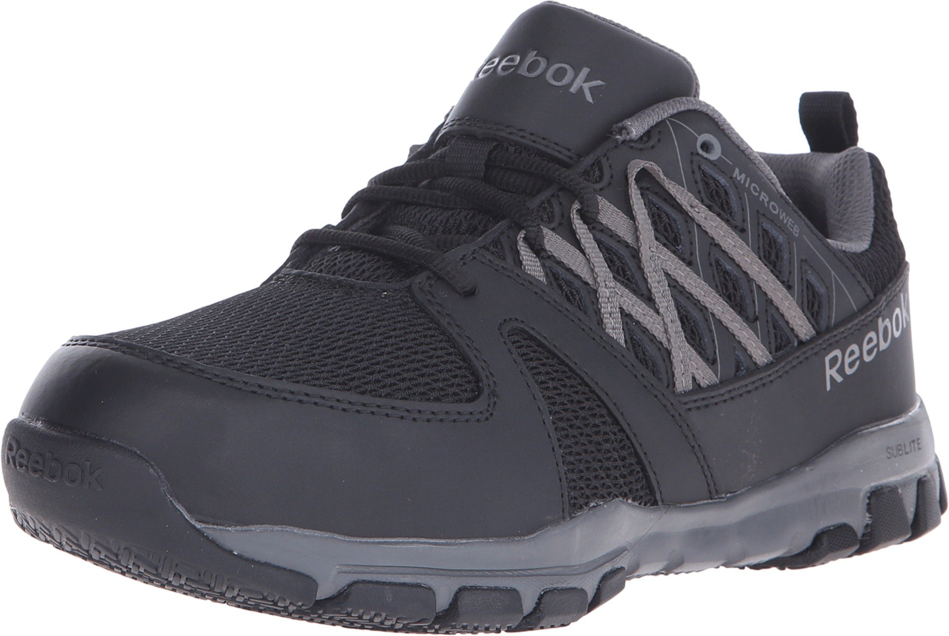 Reebok Work Men's Sublite RB4016 Work Shoe, Black, 9 W US by Reebok Work