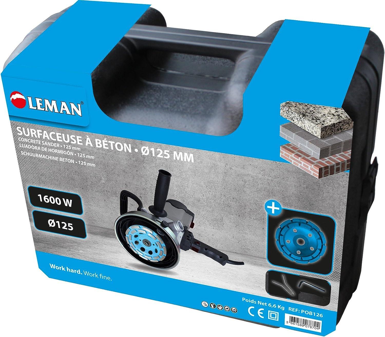 Leman POB126 Lijadora diamante de hormigón, 1600 W, 125 mm: Amazon.es: Bricolaje y herramientas