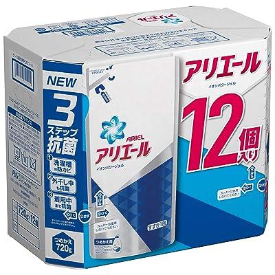 【復活】P&G アリエール 液体洗剤 イオンパワージェル サイエンスプラス 詰め替え用 720g 12個 送料込1,543円(128.5円/個)