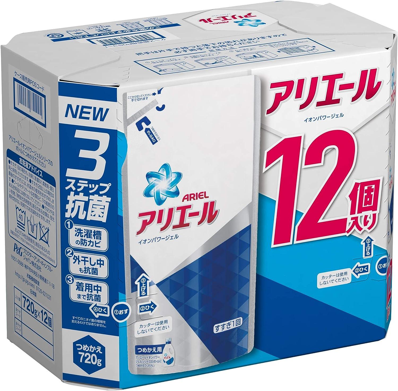 ◆◇◆「アリエール 洗濯洗剤 液体 イオンパワージェル 詰め替え ケース販売用 720gx12」が今なら50OFFで販売中!