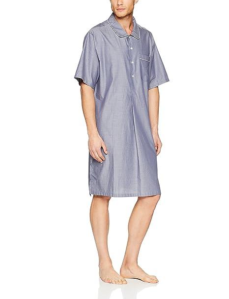 Seidensticker Nachthemd 1/2, Pijama de una Pieza para Hombre, Azul (Blau