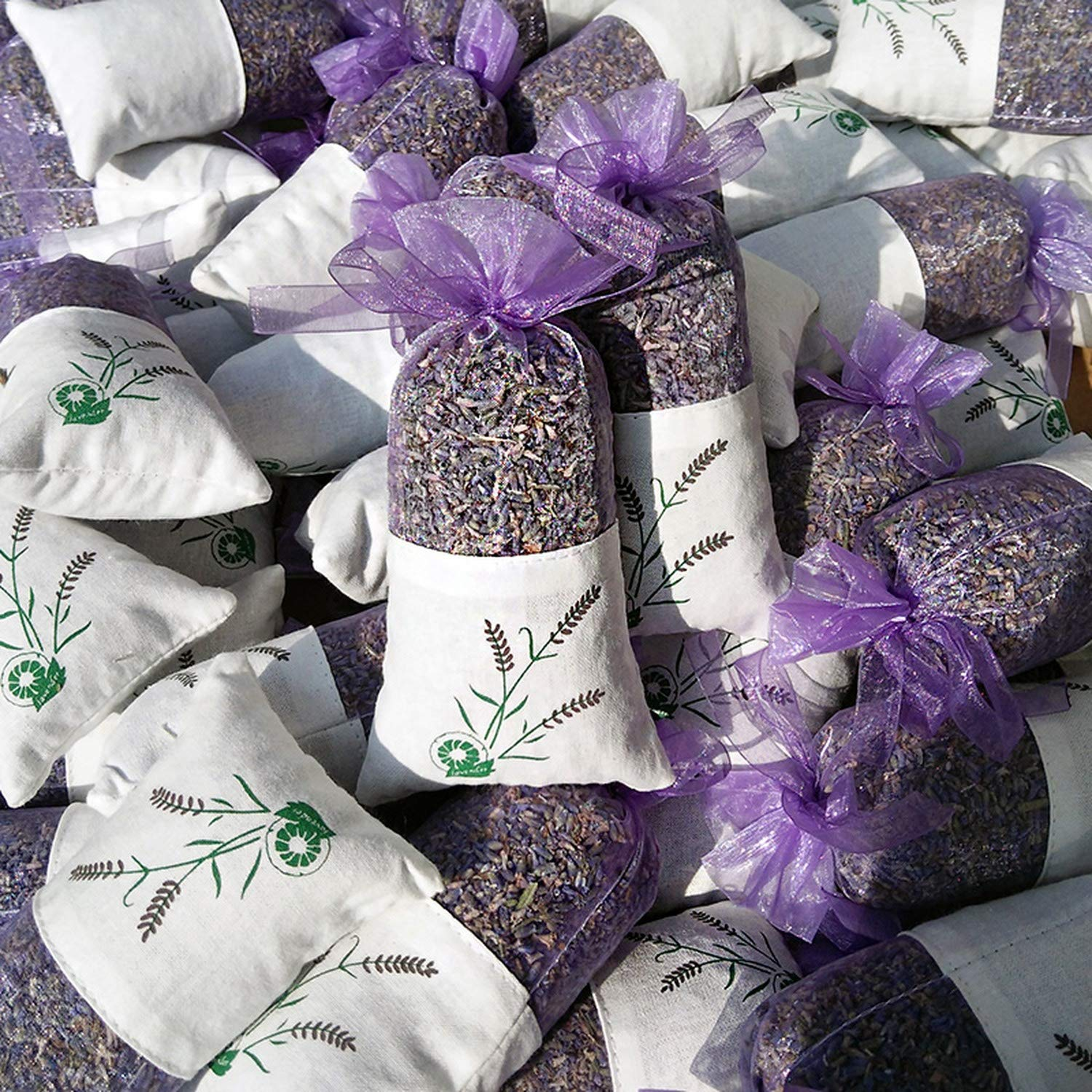 yuexianghui Natural Dried Flowers Lavender Bud Sachet Decorative Flower Aromatic Air Fresh Living Room Drawer,6 Pcs by yuexianghui (Image #4)