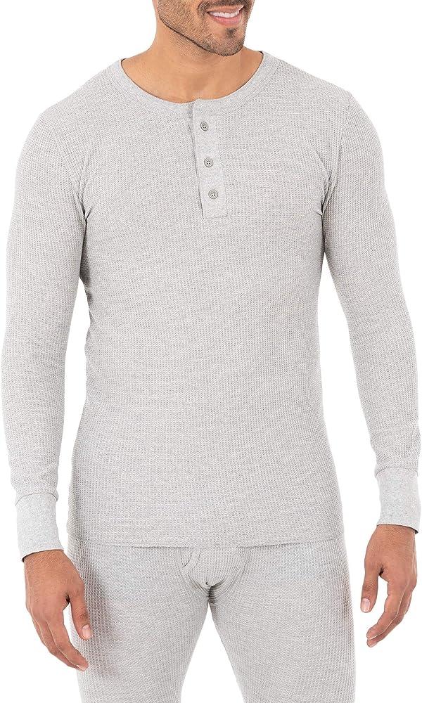 #followme Henley Thermal Shirt for Men Breathable Long Sleeve Shirt