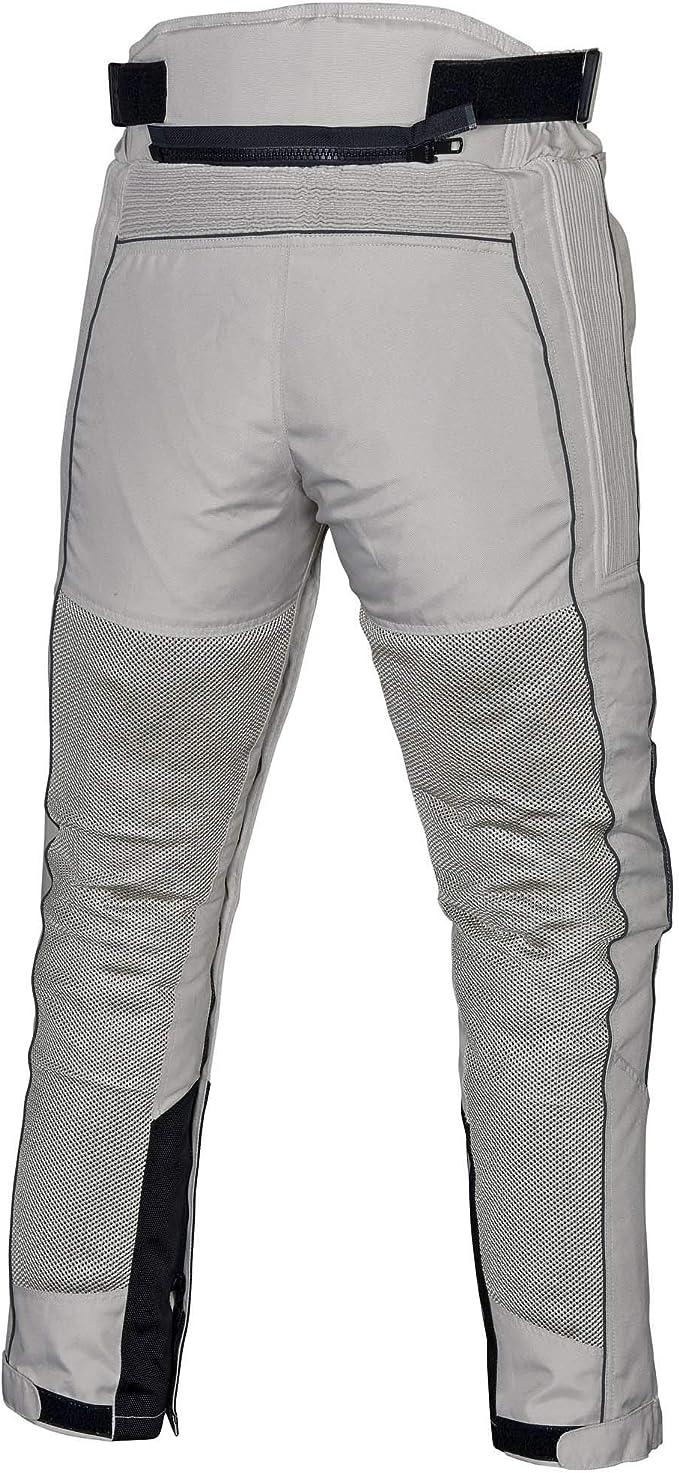 WICKED STOCK Mens Motorcycle Mesh Pants Full Leg Zipper Black//Gray PT08
