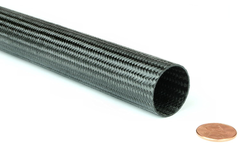 Braided Carbon Fiber Round Tubing 0.75 Inside Diameter x 48