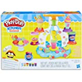Play Doh - Kitchen Creations - Sweet Shoppe Swirl & Scoop Ice Cream Playset inc 5 Tubs & Accessories