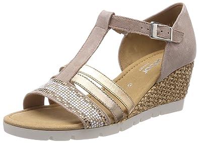 Gabor Shoes Comfort Sport, Sandales Bride Cheville Femme, (Oliv), 42 EU