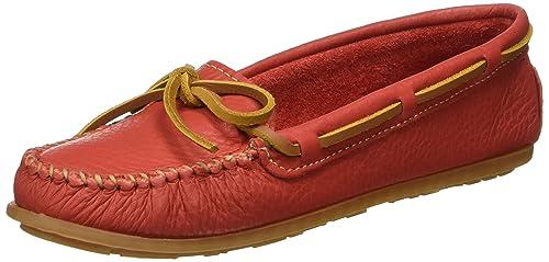 Mocasines de barco para mujer, rojo, 11 M: Amazon.es: Zapatos y complementos