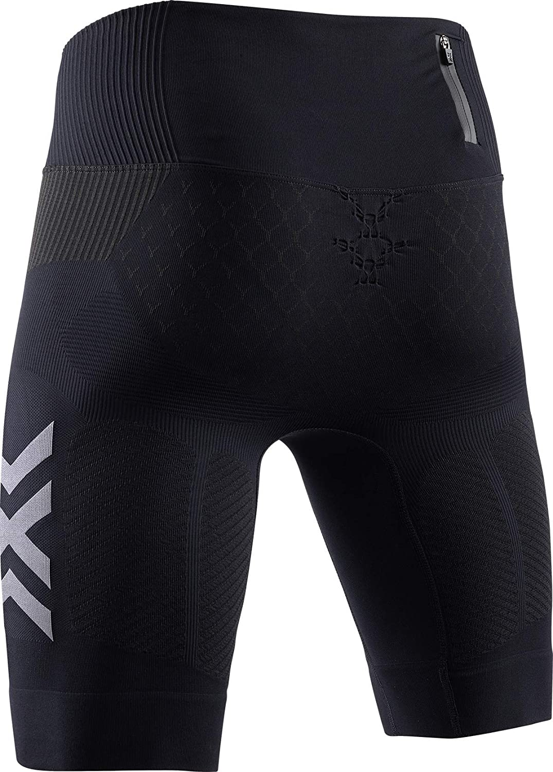 XL Uomo Opal Black//Arctic White X-Bionic Twyce 4.0 Run Shorts Men
