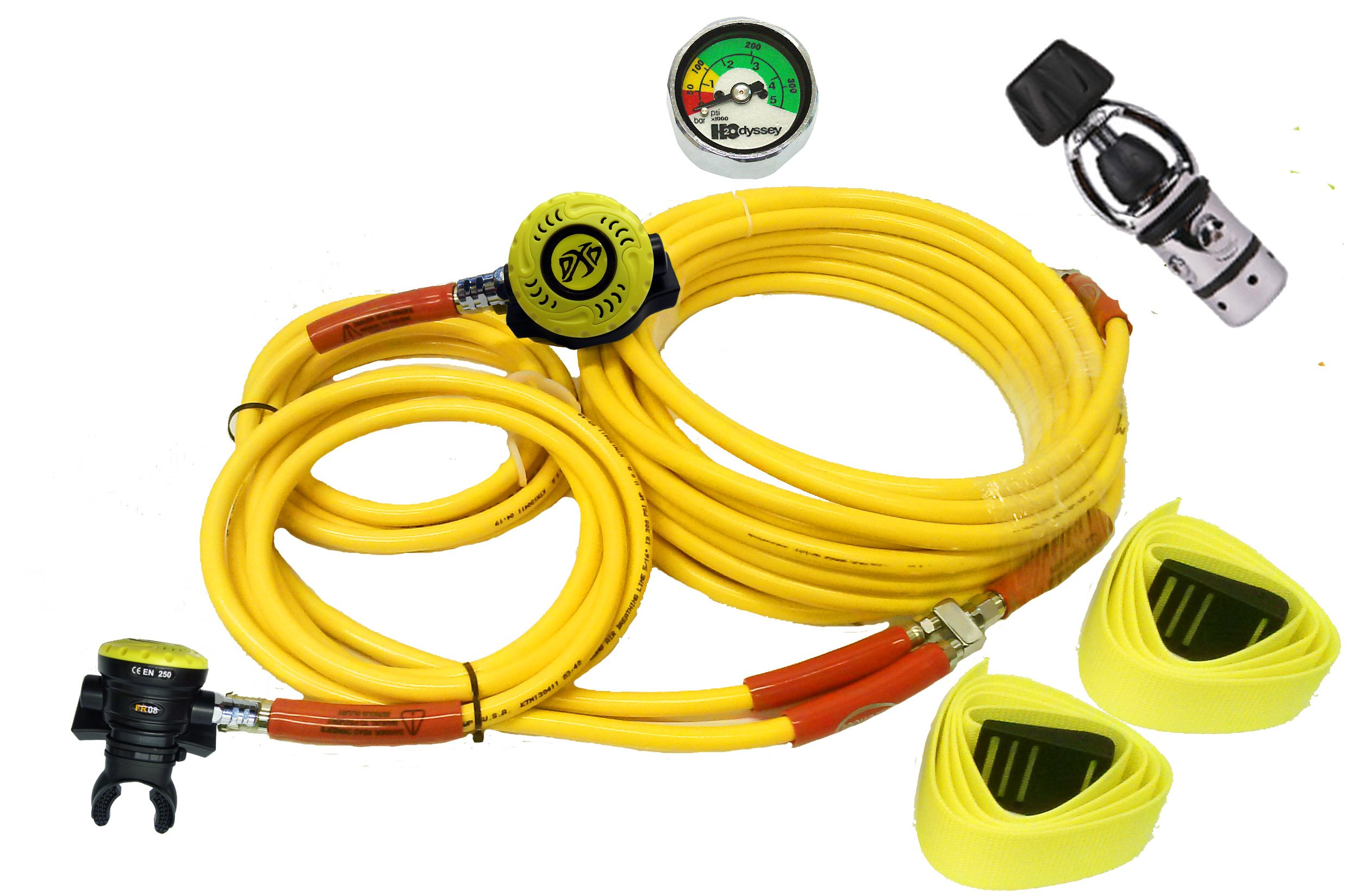 BR DOUBLE DIVER KIT W/First Stage and 2 Second Stages for Third Lung Scuba Diving