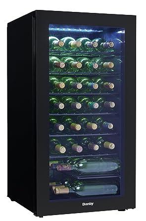 amazon com danby dwc032a2bdb 36 bottle wine cooler black appliances rh amazon com