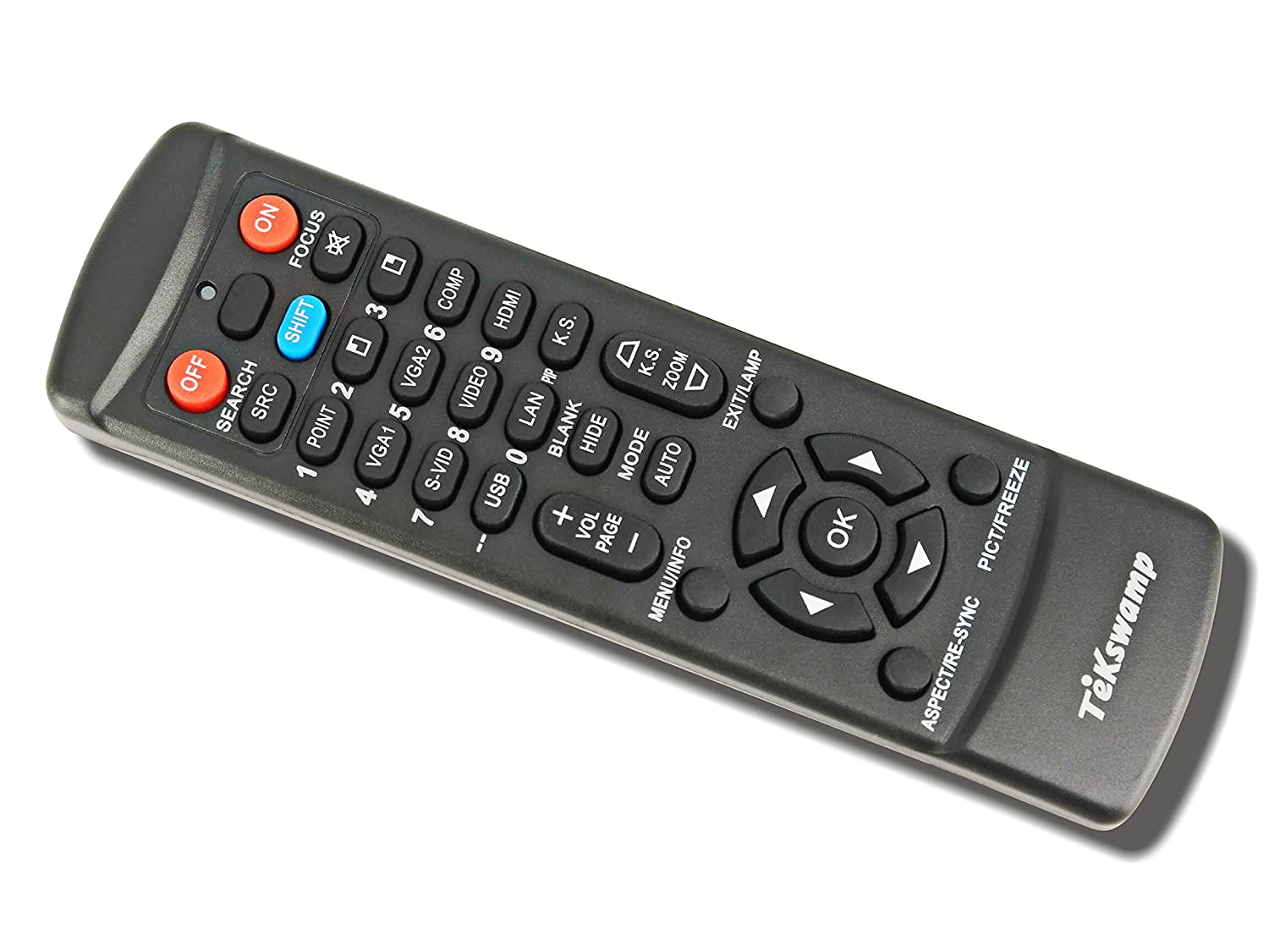 Black TeKswamp Video Projector Remote Control for NEC M283X