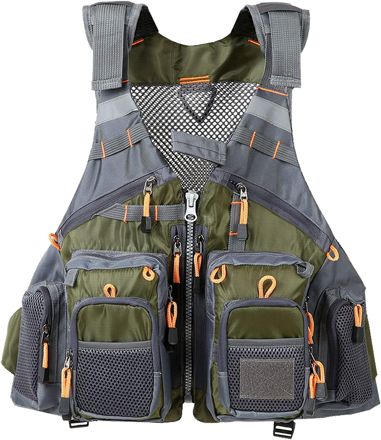 Flygo Trout Fishing Vest Fly Fishing Vests for Men and Women Adjustable Size