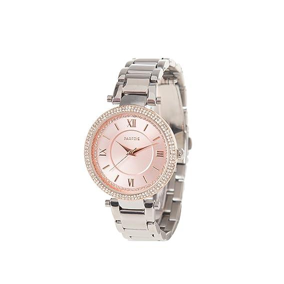 Parfois - Reloj Metal Stones - Mujeres - Tallas M - Plateado: Amazon.es: Relojes