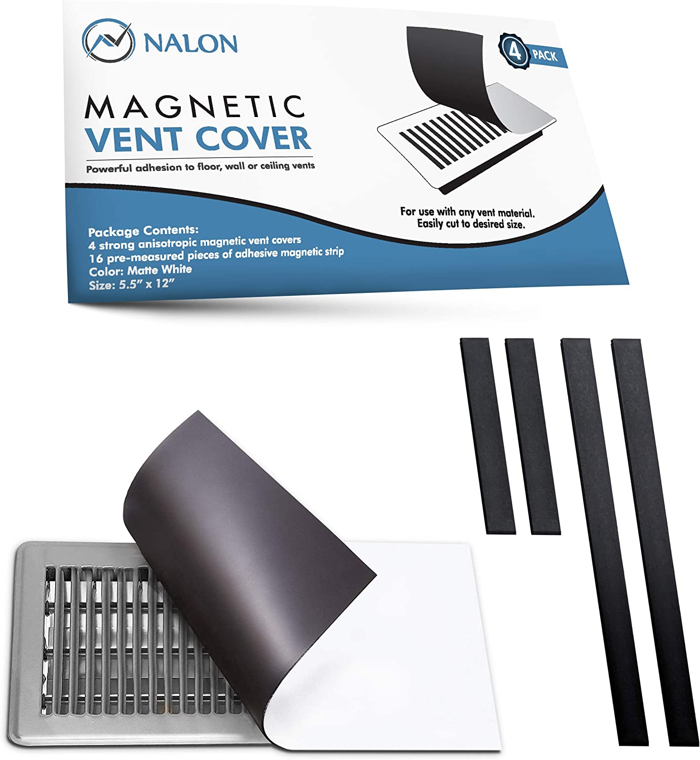 Nalon Strong Seal Magnetic Vent Cover (4-Pack) 5.5