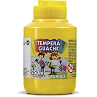 Tempera Guache 250 ml, Acrilex, 020250505, Amarelo Ouro