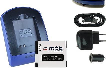KAMERA Akku-Ladegerät MICRO USB für PANASONIC Lumix DMW-BCL7 DMW-BCL7E