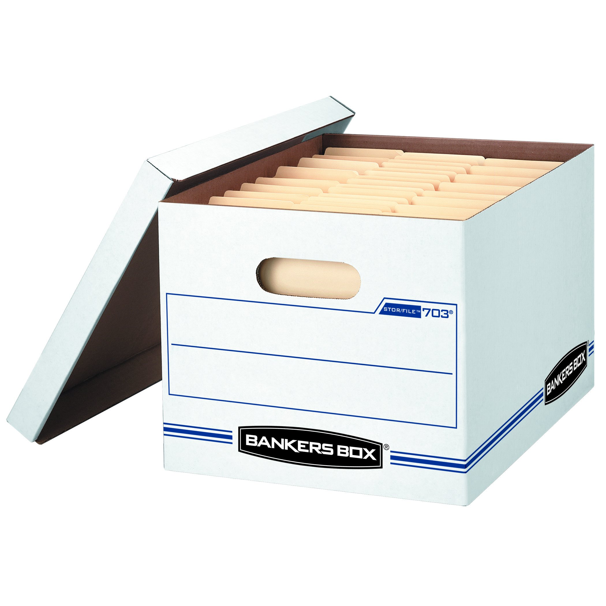 Bankers Box Stor/File Storage Box with Lift-Off Lid, Letter/Legal, 12 x 10 x 15 inches, White, 30 Pack (0071304)