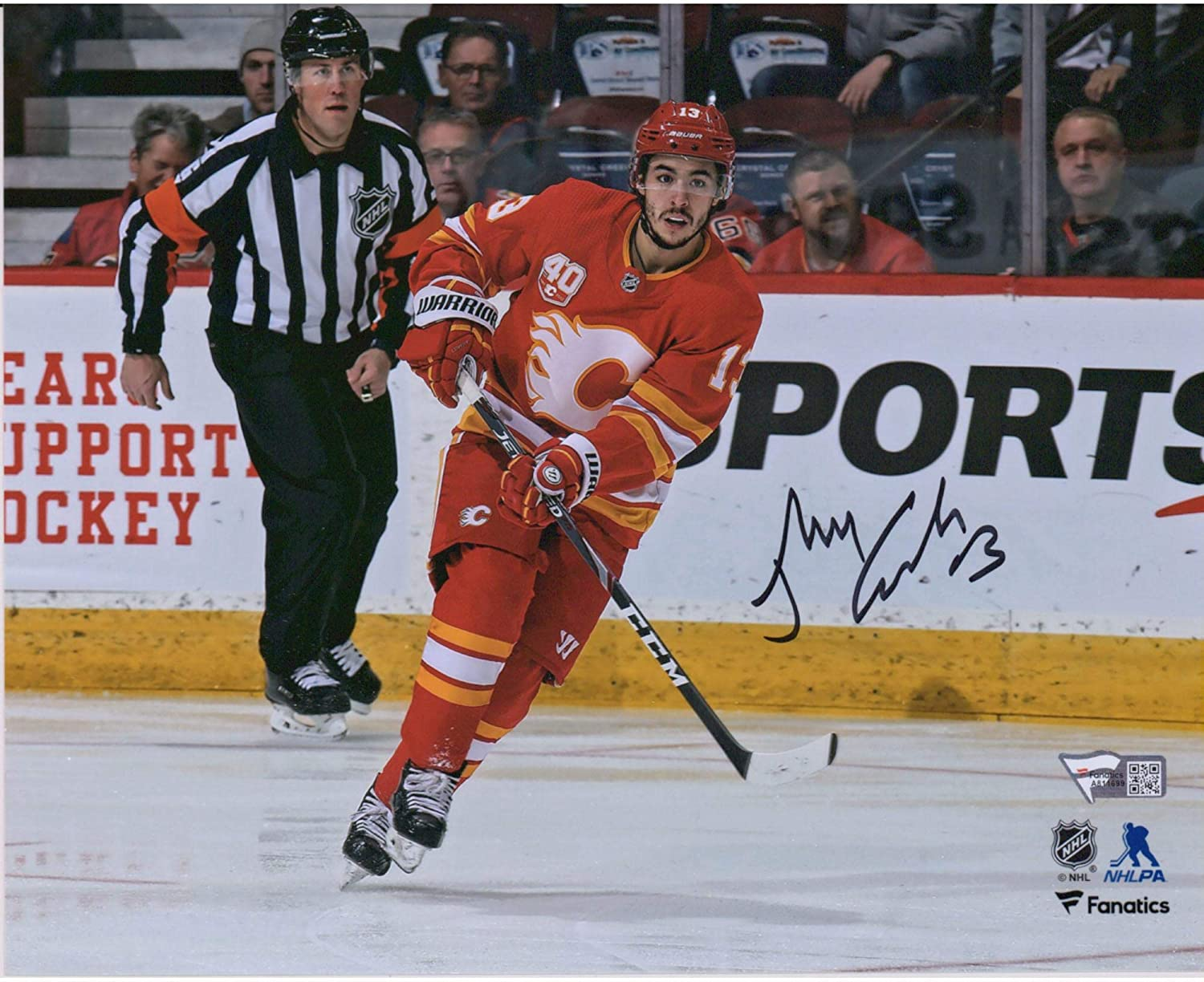 Johnny Gaudreau Calgary Flames Autographed 8 X 10 Red Alternate Jersey Skating Photograph Autographed Nhl Photos At Amazon S Sports Collectibles Store