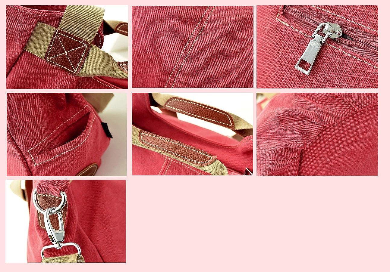 e576b9747408 Amazon | [NoA Style]デニム 3way トートバッグ ショルダー マザーズ ハンドバッグ 大きめ 斜め掛け (レッド) |  ハンドバッグ