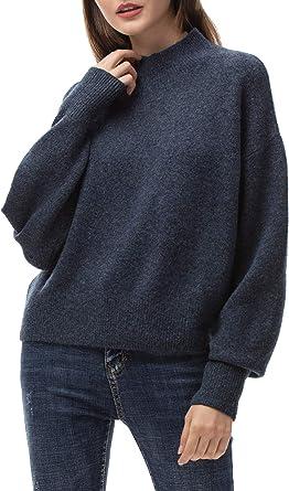 Woolen Bloom Jersey Punto Mujer Invierno Basico Cuello Redondo ...