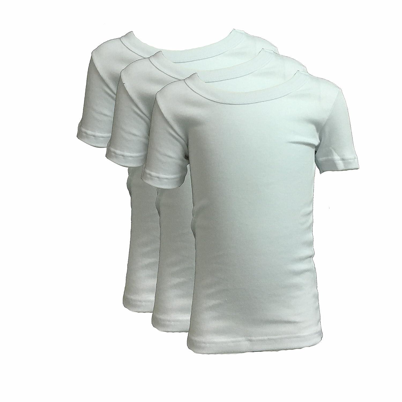 02828//E25R bianco 3 t-shirt bambino ragazzo mezza manica girocollo caldo cotone LIABEL art