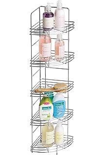 Premier Housewares 5 Tier Chrome Corner Storage Rack