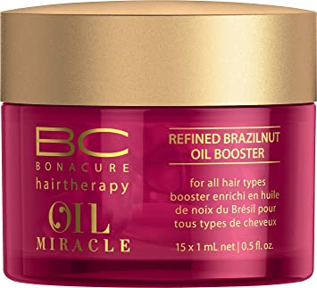 6e0591c737 Amazon.com : Schwarzkopf Bonacure Oil Miracle Brazilnut Refined Oil Booster  Serum (15) : Beauty