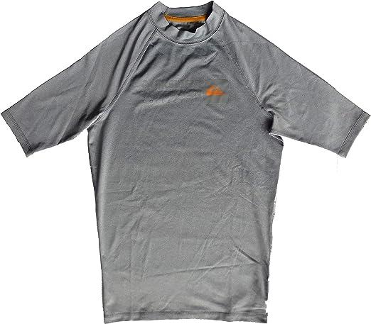 Quiksilver Sea Dog SS - Camiseta de Hombre con Protección 50+ UVA - Grey Heather - Talla M: Amazon.es: Ropa y accesorios