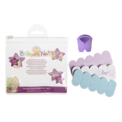 Lima de uñas para recien nacidos y bebés (0 meses +) I Cuidado de uñas bebé I Accesorio para recien nacidos y bebés I Regalo para mamás - Mixto (3 x ...