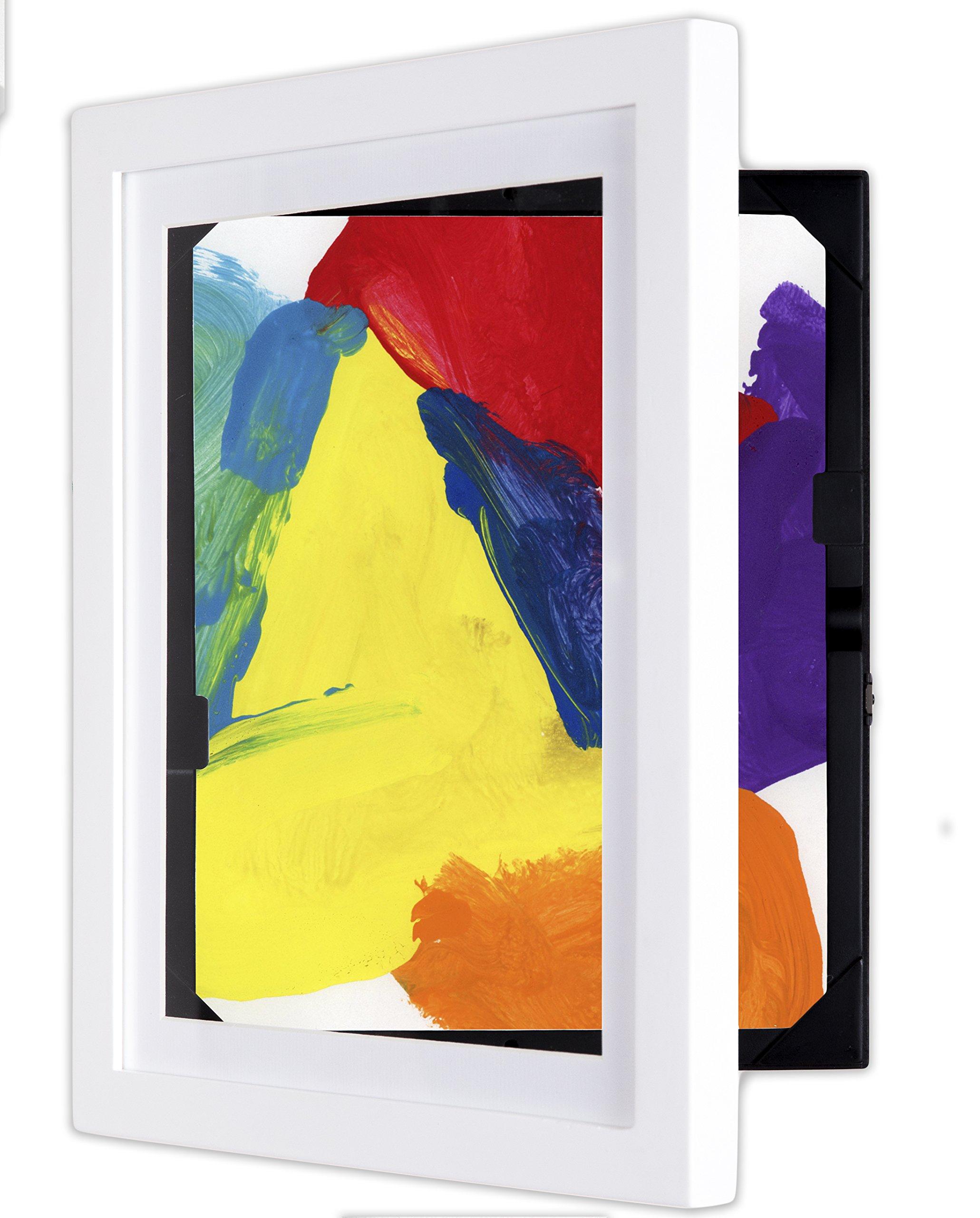 dynamicFRAMES® Li'l Davinci 8.5x11 Kids Art Frame, White wood by dynamicFRAMES® (Image #2)