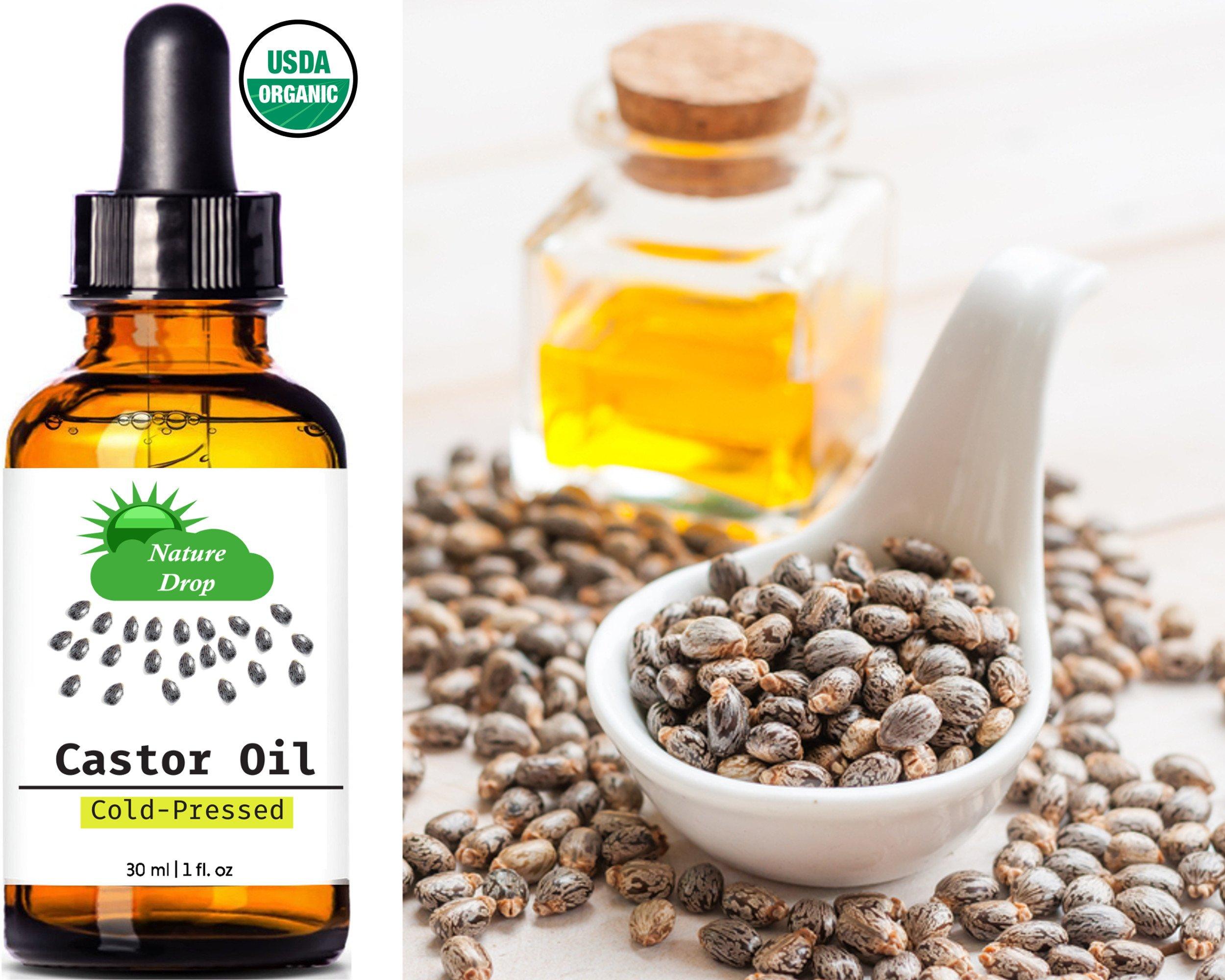 Nature Drop's Organic Castor Oil,1 oz - 100% USDA ...