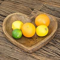 Heart Shaped Mango Wood Wooden Bowl