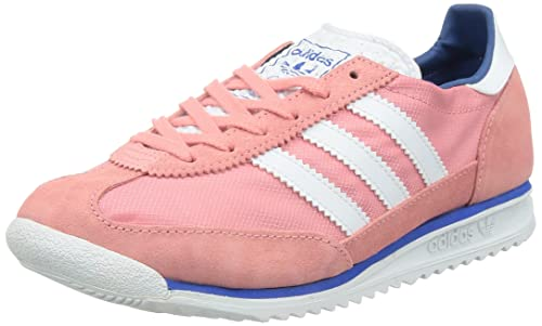 adidas Zapatilla SL 72 W Collegiate navy-flash green-joy purple Talla 4 UK glf4zhJ