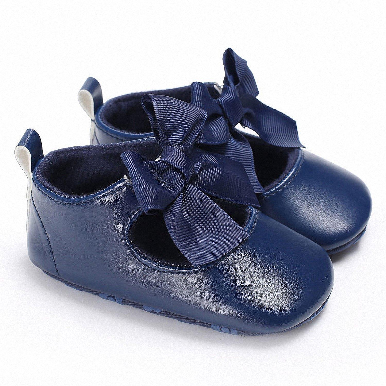 Smakke 0-18M Toddler Baby Girl Soft Pu Princess Shoes Bow Bandage Infant Prewalker New Born Baby Shoes