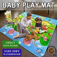 2mx1.8mx5mm Baby Kids Play Mat Floor Rug Picnic Cushion Crawling Mat Travel