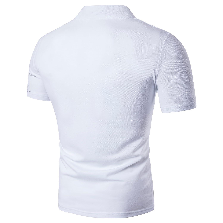 Showu Polo Uomo Top a Maniche Corte Basic Tennis T-Shirt