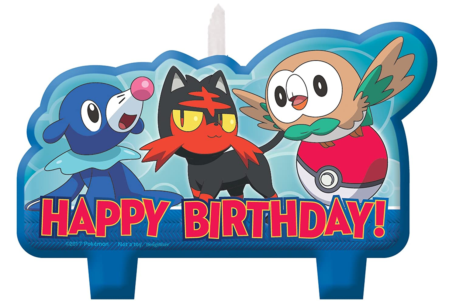 Amscan 171859 Pokemon Birthday Candle Set, Multicolor, Standard