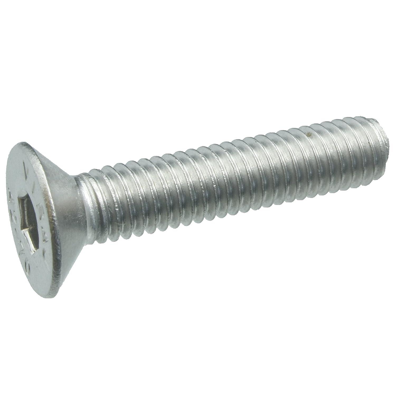 Werkstoff A2 ISO 10642 // DIN 7991 100 Senkkopfschrauben Edelstahl M6 x 40 mm Senkschrauben mit Innensechskant und Vollgewinde VA // V2A