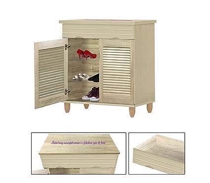 Amazon Com New Women S Shoe Cabinet In A Beige Whitewash Finish