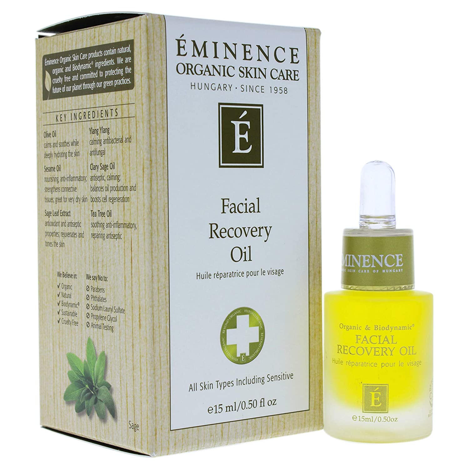 Facial Recovery Oil, 0.5 oz
