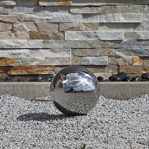 CLGarden Esfera decorativa para el jardín de acero inoxidable pulido con 15cm de diámetro, bola flotante: Amazon.es: Jardín