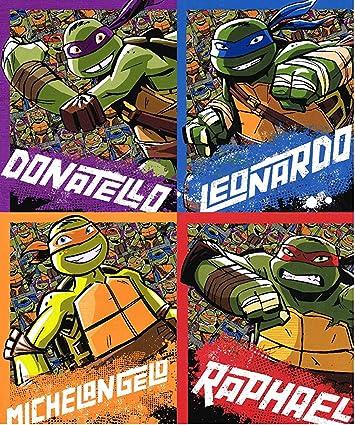 4 Pack Teenage Mutant Ninja Turtles School Bag Back to School Folders