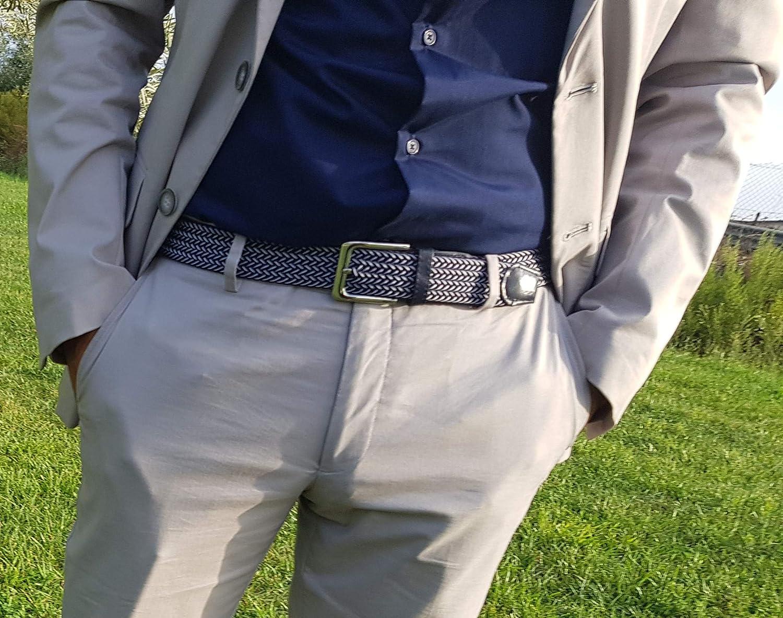 110cm 120cm Cintura Elastica Intrecciata per Uomo e Donna Ampia Scelta di Colore. Confezione Regalo Cintura uomo MULTIPACK Taglie: 105cm 115cm