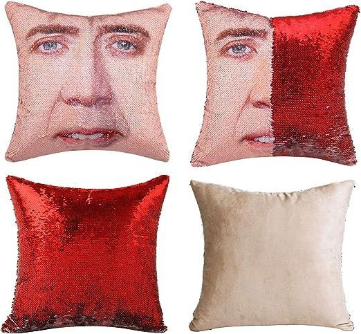 Nicolas Cage Mermaid Pillow 2019 Nicolas Cage Pillow Sequin Case,