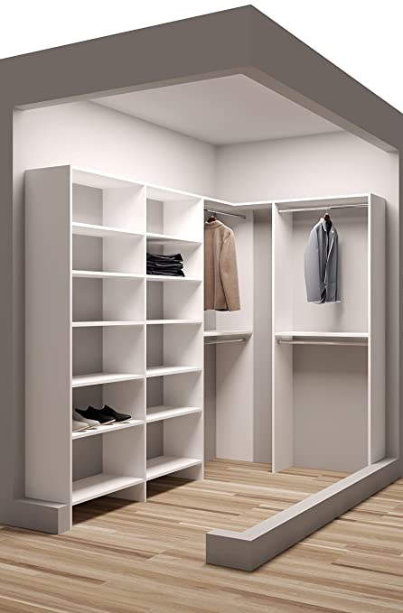Tidy Squares Demure Design 59.5u0026quot;W   99u0026quot;W Closet System
